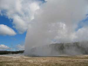Old Faithful Geysir im Yellowstone National Park